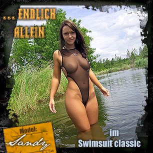 Sandy - Swimsuite classic in schwarz